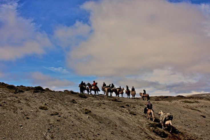 LLegando al Cordon del Escorial del Bramador. Febrero 2012