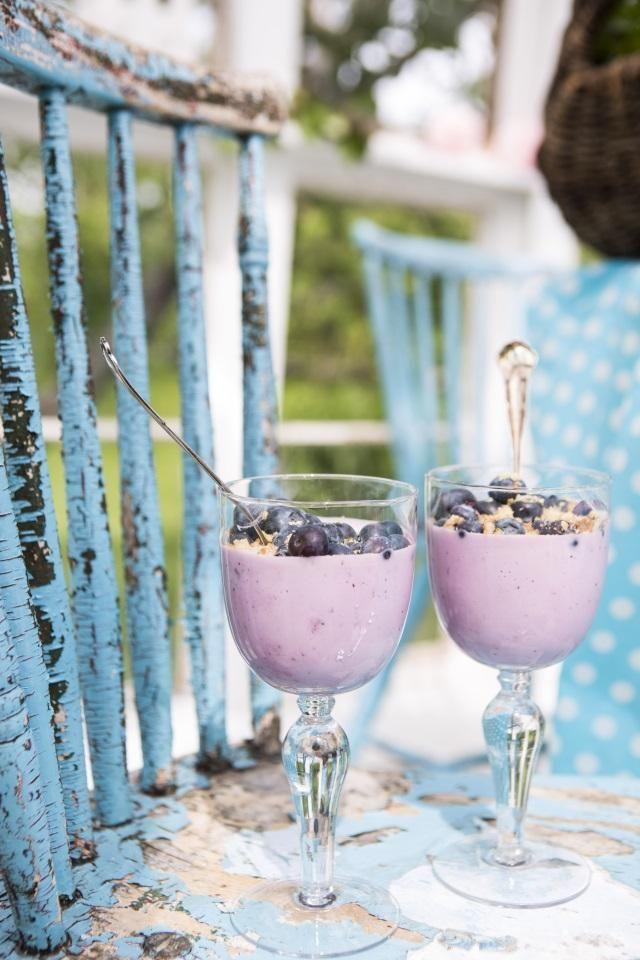 Inkan mustikkarahka. Blueberry quark.   Unelmien Talo&Koti Kuva: Hanne Manelius