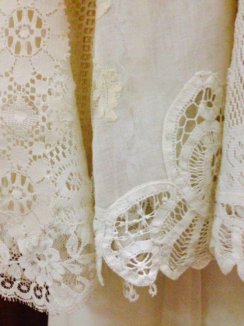 Battenberg lace on cut-away organic cotton voile #EcoBride  www.ecobride.co.za