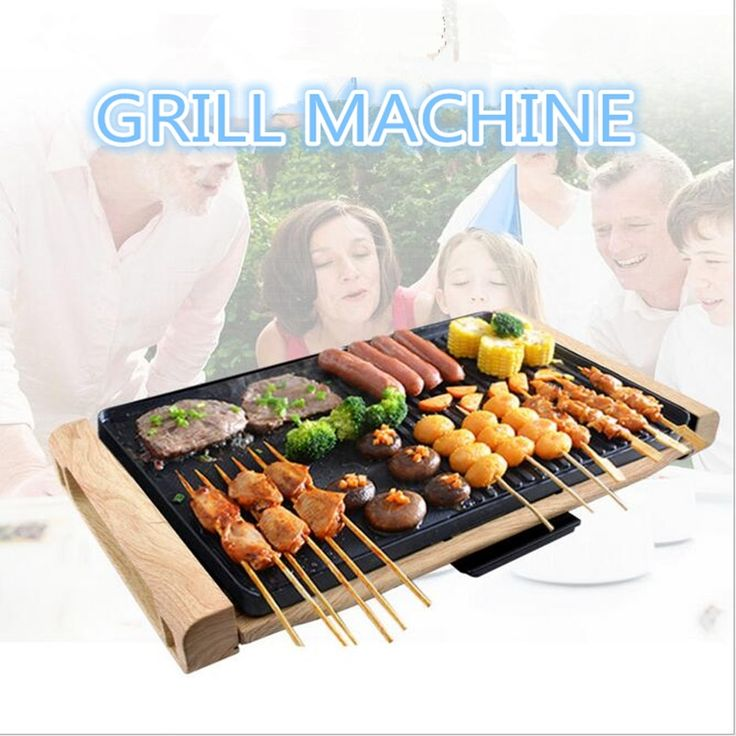 (116.56$)  Buy here  - 220V/2000W Multifunctional Electric Barbecue Grill Machine Non-stick Teppanyaki Grill Pan BBQ Griddle For Outdoor Family Party