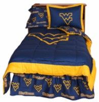 Officially Licensed West Virginia University Bedding In Official Team  Colors Of Blue And Gold With Licensed Part 52