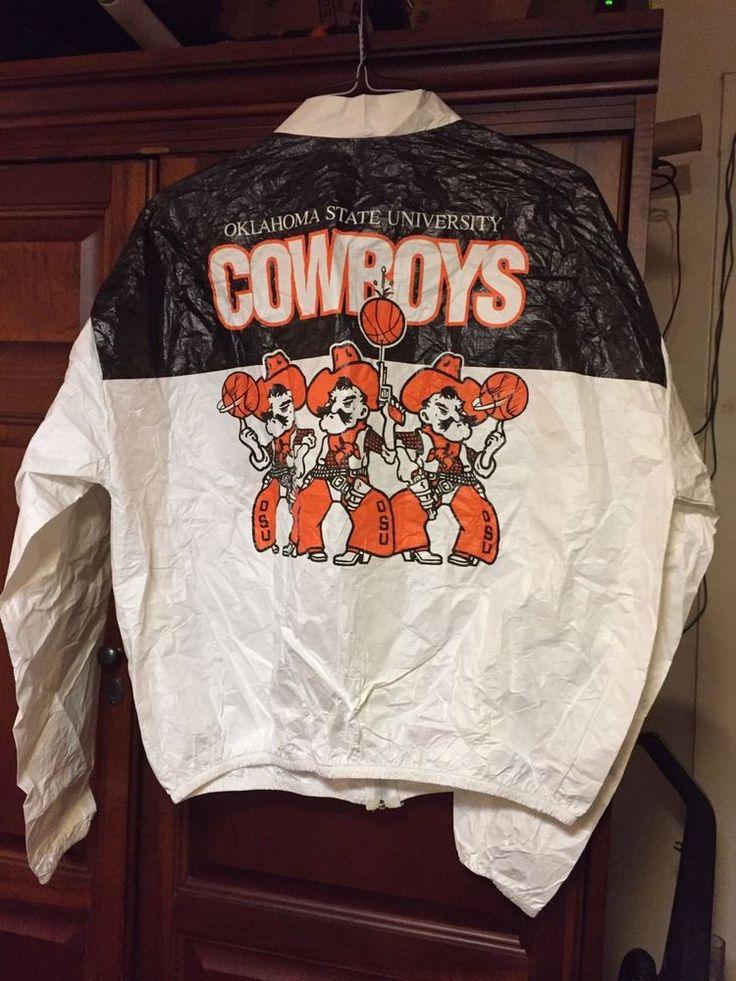 Vintage 1990s Phillips 66 Big 8 Basketball OSU Cowboys Tyvek Windbreaker X Lg #Tyvek #OklahomaStateCowboys