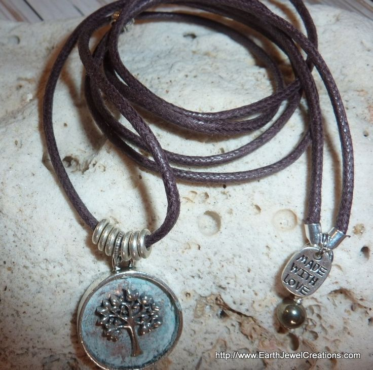 Tree Of Life in Clay Pendant - handmade crystal energy gemstone jewellery Earth Jewel Creations Australia
