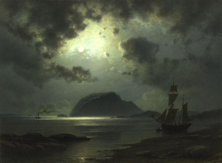 """catonhottinroof: """"  Knud Andreassen Baade Måneskinn, 1867 """""""