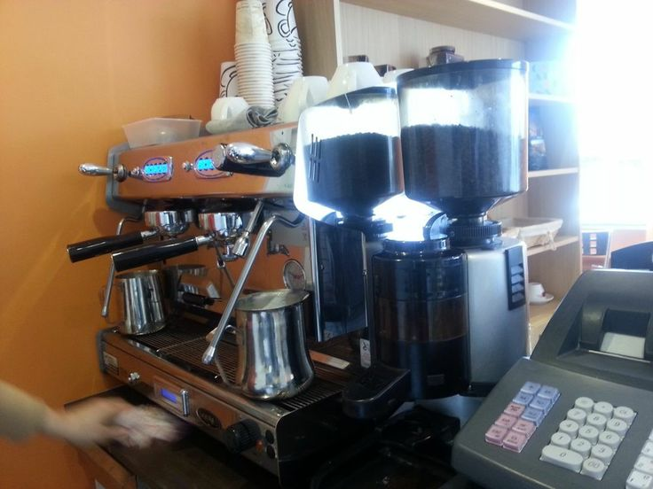 professional coffee machine. Second hand.Just serviced. 450.00 pounds. Looks like a group 2, bean to machine. Can't get better for that price.