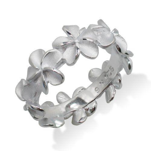 Hawaiian Heirloom Jewelry Flower Sterling Silver Lei Ring