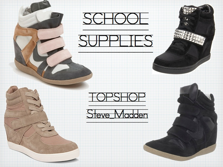 sneakers + wedges · Sneaker WedgesWedge SneakersWedge ShoesSteve Madden ...
