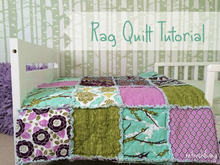 Rag quilt tutorial - easy to complete even for someone just beginning to sew!  Joel Dewberry Aviary 2 fabric