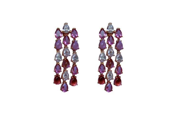 Niagara Earrings w/ tourmaline and cubic zirconia available from today at www.moroognissanti.com.au with 20% off if you subscribe to our VIP club.  #luxury and #elegant #lifestyle + #hautecouture of #jewellery #madeinitaly for you daily #inspiration