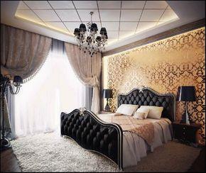 Luxury goth bedroom