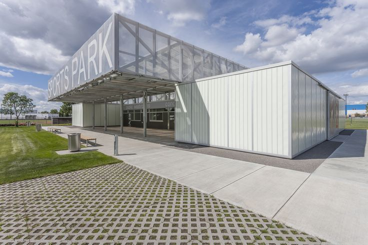 Completed in 2015 in Edmonton, Canada. Images by Bruce Edward - Yellow Camera . Situated in a suburban warehouse district in Edmonton, Alberta, the John Fry Sports Park is largely dedicated to hosting baseball games and...