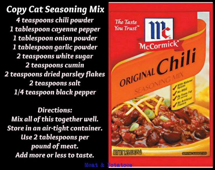 Williams Chili Seasoning Original :: Directions for Me