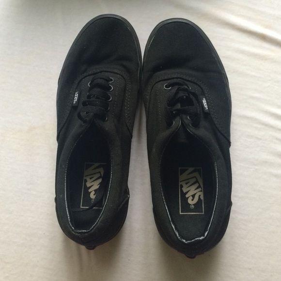 All black vans All black vans (worn once) Vans Shoes