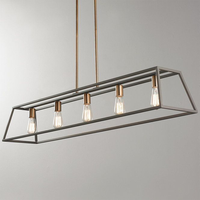 Check out Sleek Minimalist Island Chandelier - 5 Light from Shades of Light