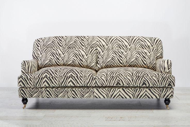Palladium Sofa 3 Seat Zebra from Villa Maison #americanstyle #classic #interiors #design