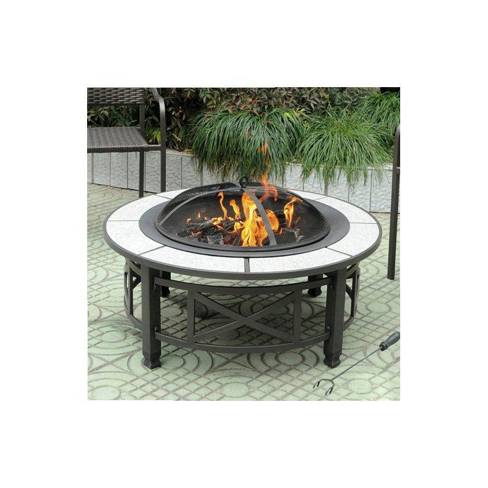 Cheswold Steel Charcoal Wood Burning Fire Pit Wood Burning Fire Pit Wood Burning Fires Fire Pit Materials