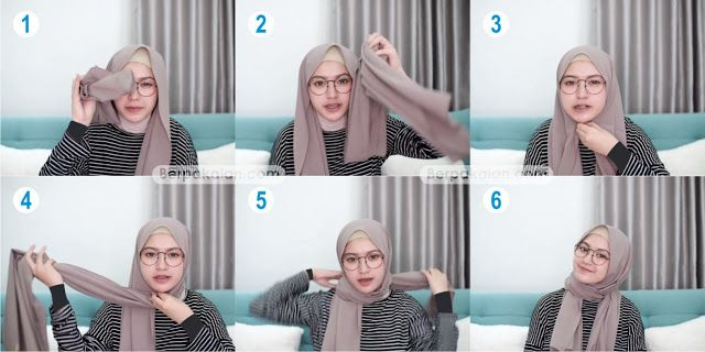 Style Kelima Tutorial Hijab Pashmina Untuk Wanita Berkacamata Simple Terbaru 2019 Tutorial Hijab Pashmina Wanita Gaya Hijab