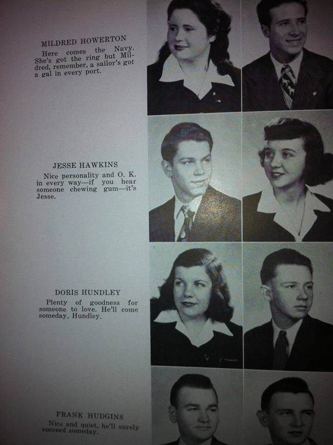 5 of Best Yearbook Quotes from the '40s