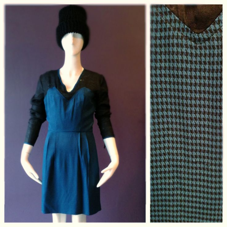 Winter cocktail dress in blue black houndstooth. Sizes 2-16 at Anastasia 1001 N Damen ave #fashion #fashionlove #fashiondesigner #winter #wickerpark #dress #winterdress #style #saturday #designer #anastasia #anastasiachatzka #anastasiachicago #anastasiaboutique #chicago #chicagolife #chicagostyle #chicagoliving #chicagofashion #midwest #midwestfashion
