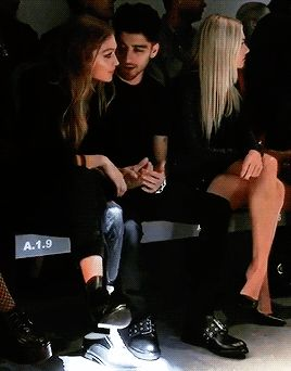 mind of mine — Zayn and Gigi at the Versus Versace show [c]