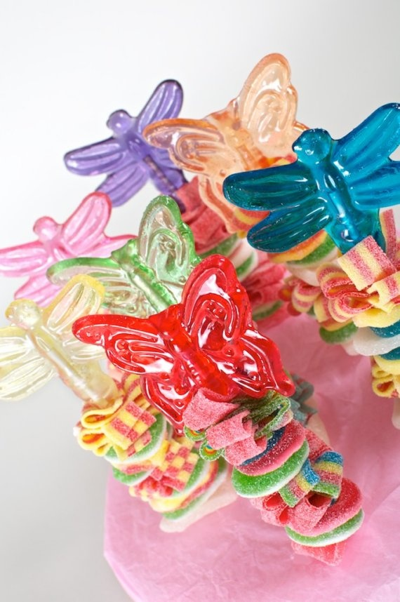 Candy Kabob Sweet Skewers by Sweets Indeed.  These are so bright and look so yummy! My daughter will love this at her party!# candy, favors, sweets