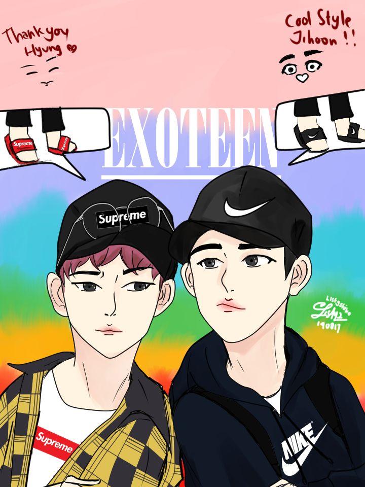 EXOTEEN fanart Woozi and Do Kyungso  Kyungsoo Fanart , WooziFanart