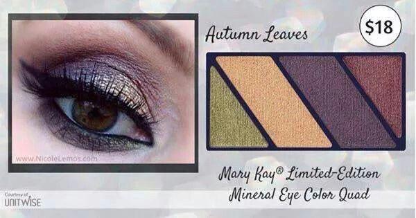 Novinka!!! Nové minerální oční stíny http://www.marykay.cz/janamimochodkova/cs-CZ/Nove-pripravky/Mary-Kay-Sada-ocnich-stinu-Autumn-Leaves/Autumn-Leaves/130780.partId?eCatId=4294966794