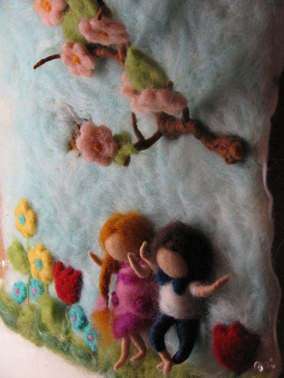Aguja de fieltro tapiz waldorf inspirado por Made4uByMagic en Etsy