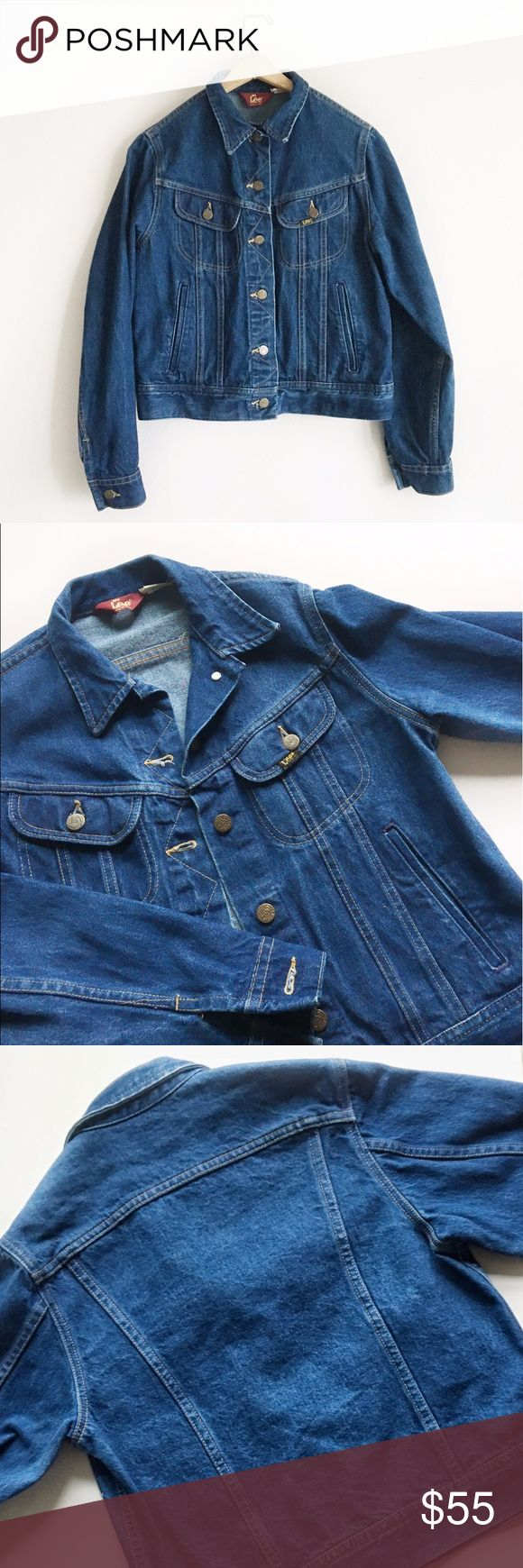 VINTAGE Ms Lee Denim Jacket Gorgeous vintage Lee jacket! Like new, I mean the buttons were difficult to push thru the holes - so good ladies!  Sized 11/12 - fit modern M Lee Jackets & Coats Jean Jackets
