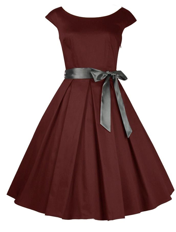 Burgundy Circle Dress