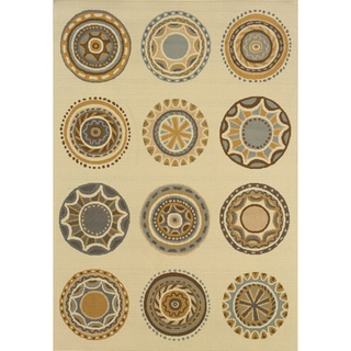 @Overstock - This beautiful area rug will help your outdoor spaces feel more like home in on trend shades of ivory, grey, gold, slate blue and brown. This durable polypropylene rug will endure the elements and continue to look great for many years.http://www.overstock.com/Home-Garden/Outdoor-Indoor-Ivory-Grey-Area-Rug/7521420/product.html?CID=214117 $25.99