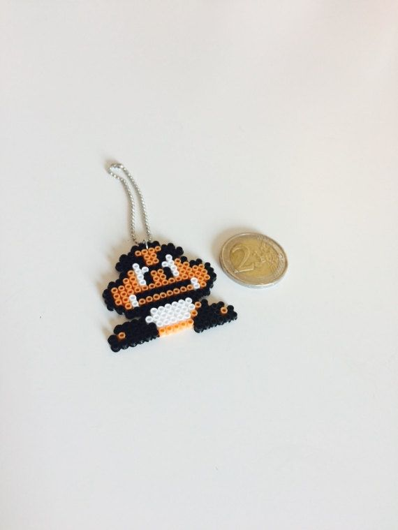Goomba Keyring Super Mario inspired by TinksPixels on Etsy