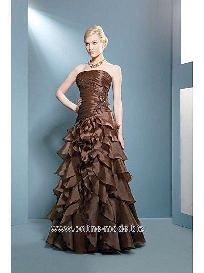 Bustier Abendkleid in Bronze Braun von www.online-mode.biz