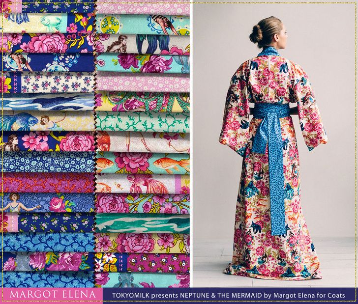 An Interview with Designer, Margot Elena: TokyoMilk Presents Neptune and the Mermaid By Margot Elena for Coats | Sew4Home