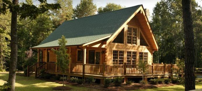 Southland Log Homes - Rockbridge Log Cabin Plans Exterior