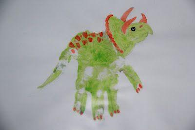 handprint dinosaur I've got to make this with my kiddos tomorrow