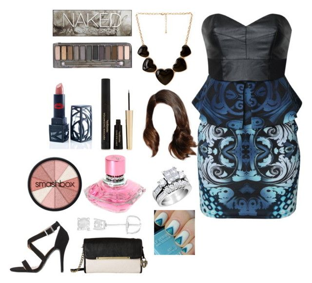 """""""Bombshell💣"""" by lily-adams1999 ❤ liked on Polyvore featuring Forever 21, Lipsy, The Lip Bar, Urban Decay, Finesque, Baby Phat, Betsey Johnson and Smashbox"""