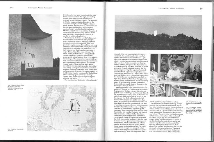 Le Corbusier,  e chapel of Notre Dame du Haut, Ronchamp, 1954 (Willy Boesiger, Hans Girsberger, Le Corbusier 1910-65, Zürich, Les Édition d'Architecture, 1967, p. 258)
