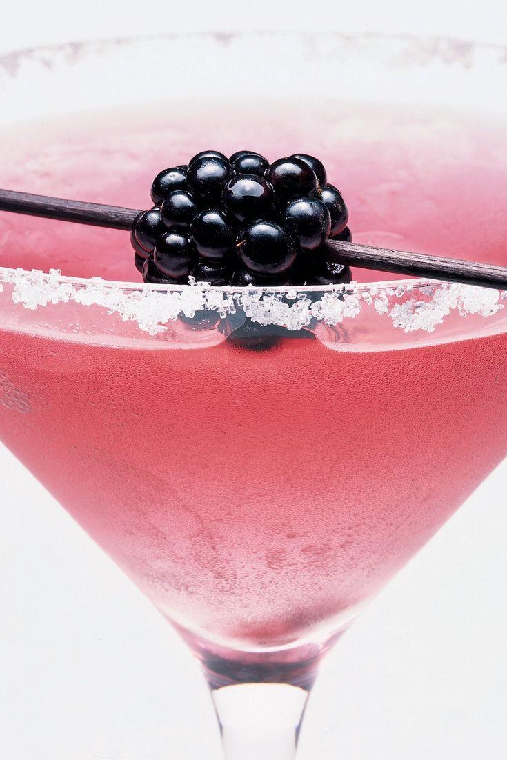 NYT Cooking: One of the most exquisite exploitations of the blackberry is accomplished by teaming it with a little booze and presenting it in a sugar-rimmed martini glass, making what might be called a blacktini. The original recipe, from ''The Berry Bible,'' suggests vodka, but I find the complexity of the drink enhanced by the gin's juniper-berry accent. I think vodka is dull, actual...