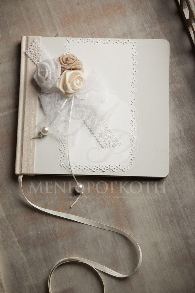 Elegant guest book gir's Christening
