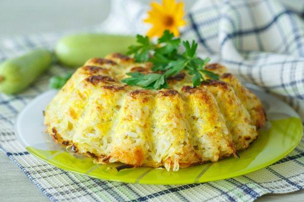 torta di riso salata con verdure