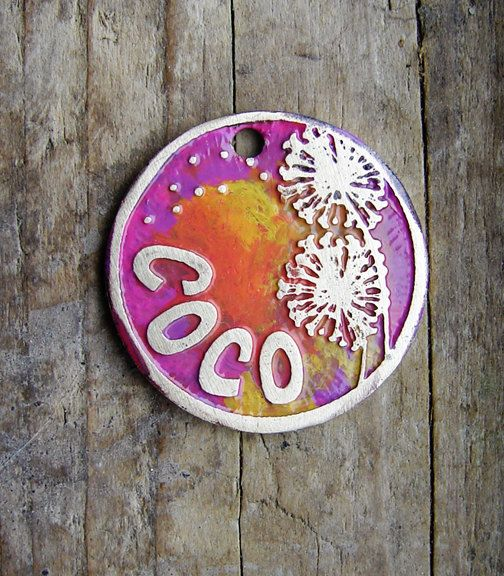 Dog Tag / Cat Tag / Pet Tag / Colorful Dog Tag / by TagMePetTags