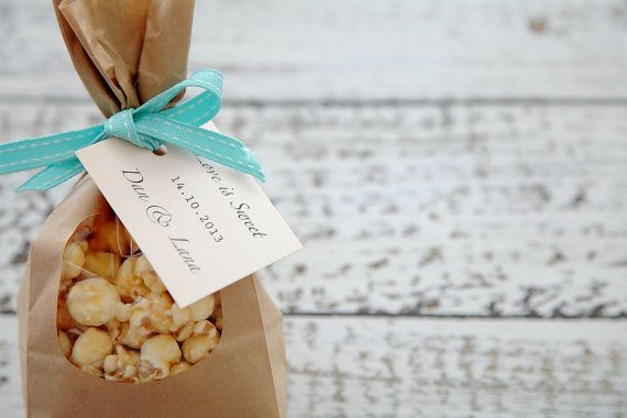 Caramel or Honey Popcorn Wedding Bonbonniere / Favors on Etsy, $6.77 AUD