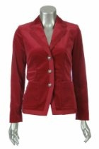 Sutton Studio Tipped Velveteen Blazer Jacket