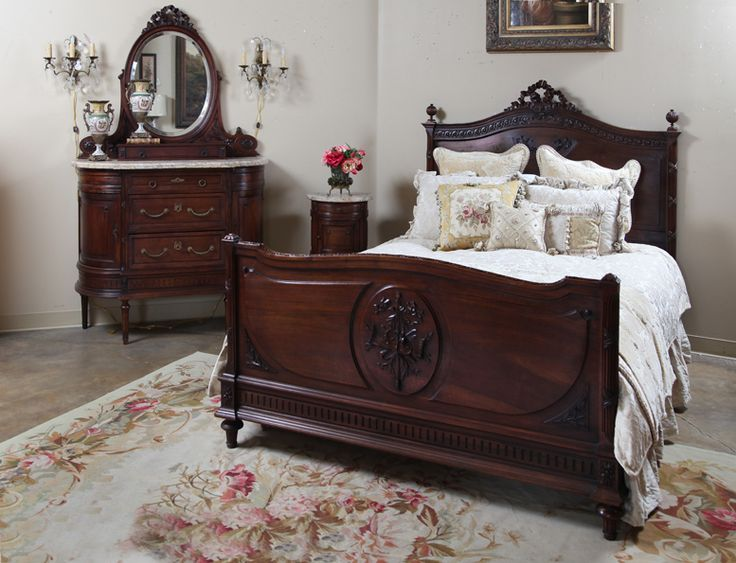 Antique French Louis XVI Walnut Bedroom Set | Antique Furniture | Inessa  Stewart's Antiques - 181 Best My Dream Vintage Bedroom Images On Pinterest Bedrooms
