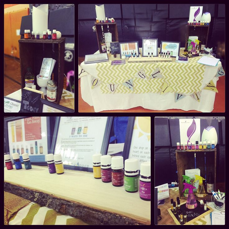 table young living vendor booth