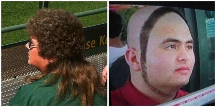14 hairstyles we are happy that we never had! Vi är mångasom någon gång gått från frisörsalongen med en klump i halsen, eftersom frisyren inte blev riktigt som vi hade tänkt oss. Men om du någonsin fallit offer för en riktigt dålig klippning kan du åtminstone vara glad att det inte blev lika illa som för dessa herrar och damer.