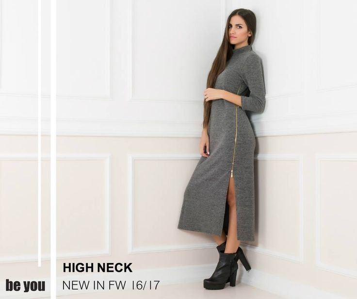 Trend Watch: High-Neck Dress⚡️ φόρεμα > https://goo.gl/jgvZFS  #dress #highneck #trendy #winterdress #beyoucomgr