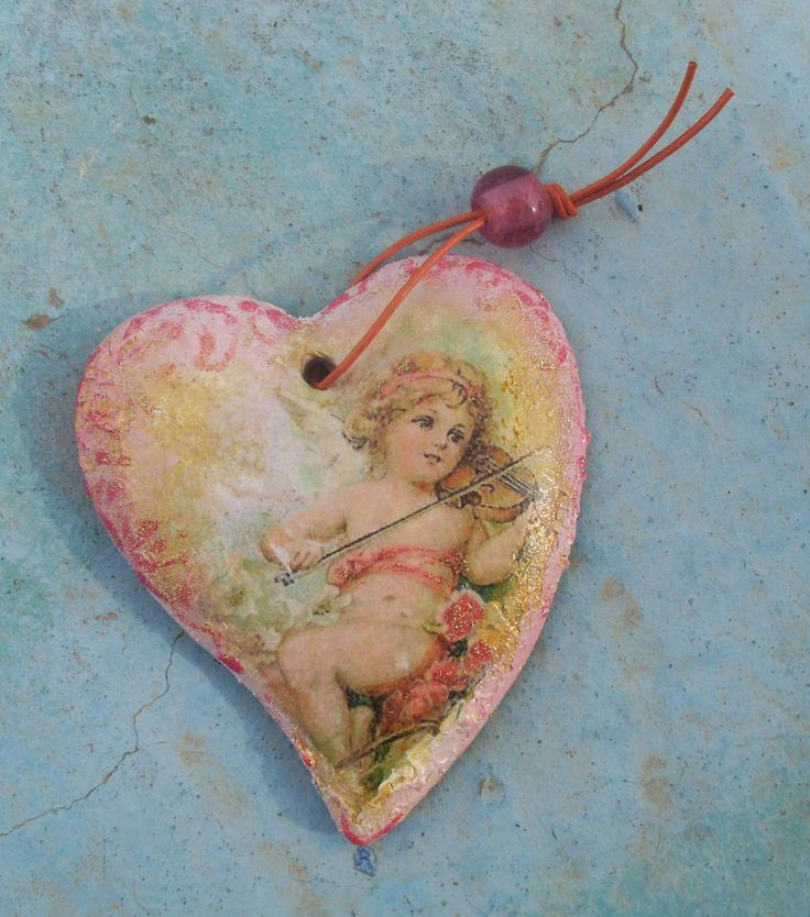 ANGEL HEART- Ceramic Heart - Home Decor by allabouthandicraft on Etsy