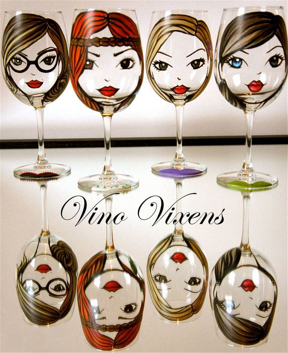 perfect unique bridesmaids gifts... with the bride's favorite choice of wine for each girl...